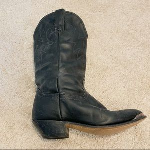 Durango Leather Pull On Cowboy Boots